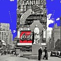 Wrapped  Fr. Duffy Statue Times Square New York Peter Sekaer Photo 1937 Color Added 2014 by David Lee Guss