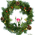 Wreath With Rose by Lise Winne