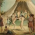 Wrestlers by Sir John Everett Millais