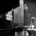 Wrigley And Tribune Buildings by Underwood Archives