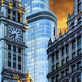Wrigley Building And Trump Tower Dsc0540 by Raymond Kunst