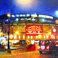 Wrigley Field Home Of Chicago Cubs by Michael Durst
