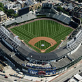 Wrigley Field In Chicago Aerial Photo by David Oppenheimer