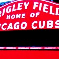 Wrigley Field Sign by Marsha Heiken