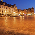 Wroclaw Old Town Market Square At Night by Artur Bogacki