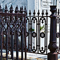 Wrought Iron Cemetery Fence by Kathleen K Parker