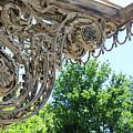 Wrought Iron Scroll by Sue Schwer