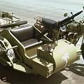 Ww2 German Sidecar And Fuel Trailer by Richard John Holden RA