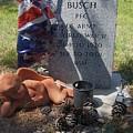 Ww2 Veterans Grave Mountain View Cemetery Casa Grande, Arizona 2004 by David Lee Guss