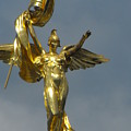 Wwi Gold Winged Victory Statue by Ginger Repke