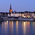 Wyck In Maastricht In The Evening by Merijn Van der Vliet