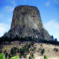 Wyoming Devils Tower With 8 Climbers August 7th 12 36pm 2016 With Inserts by Thomas Woolworth