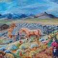 Wyoming Ranch Scene by Dawn Senior-Trask
