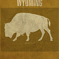 Wyoming State Facts Minimalist Movie Poster Art by Design Turnpike