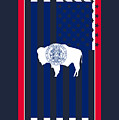 Wyoming State Flag Graphic Usa Styling by Garaga Designs