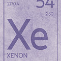 Xenon Xe Element Symbol Periodic Table Series 054 by Design Turnpike