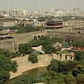Xi'an City Wall With Skyline by Carol Groenen