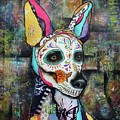 Xolo Mexican Hairless Day Of The Dead by Patricia Lintner