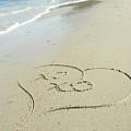 Xoxo - Message Written In The Sand by Natasha Sweetapple