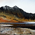 Y Lliwedd Ridge From Lake Llyn Llydaw by Paul Dene Marlor