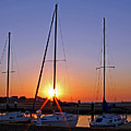 Yacht Club Sunrise by Judy Vincent