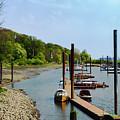 Yacht Harbor On The River. Film Effect by Marina Usmanskaya