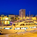 Yacht In Zadar Harbor Evening View by Brch Photography