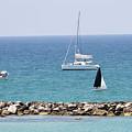 yacht sailing in the Mediterranean sea by Vladi Alon