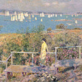 Yachts In Gloucester Harbor by Childe Hassam