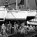 Yachts On Drydock by Gaspar Avila