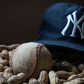 Yankee Cap Baseball And Peanuts by Terry DeLuco