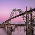 Yaquina Bay Bridge In Blue Light by Paul Quinn