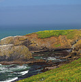Yaquina Head Lighthouse And Bay by Rich Walter