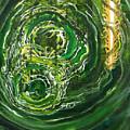 Yaweh El Shaddai Left Canvas Detail by Anne Cameron Cutri