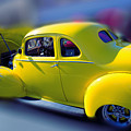 Yellow 1940 Hudson by Beverly Guilliams