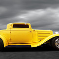 Yellow 32 Ford Deuce Coupe by Gill Billington