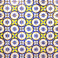 Yellow And Blue Circle Tile by For Ninety One Days