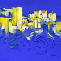 Yellow And Blue by Fernando Bolivar