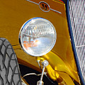 Yellow And Blue Hot Rod Headlight by Jill Reger