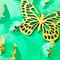 Yellow And Green Butterfly by Ruby White