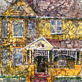 Yellow Batik House by Arline Wagner