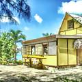 Yellow Beach Bungalow Bora Bora by Julie Palencia