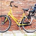 Yellow Bicycle Digital Watercolour by Anita Van Den Broek