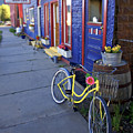 Yellow Bicycle Silverton Colorado by George Oze