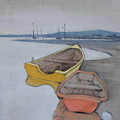 Yellow Boat 1 by Amy Bernays