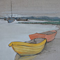 Yellow Boat 2 by Amy Bernays