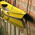 Yellow Boat In Venice by Michael Henderson
