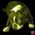 Yellow Boston Terrier Art - 8384 - Bb by James Ahn