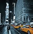 Yellow Broadway At Night - Nyc by Carlos Alkmin