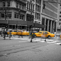 Yellow Cab On Fifth Avenue, New York 4 by Art Calapatia